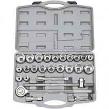 """Draper 3/4"""" Square Drive MM/AF Combined Socket Set (26 Piece)"""