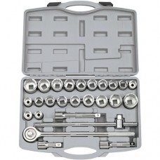 "Draper 3/4"" Square Drive MM/AF Combined Socket Set (26 Piece)"