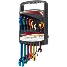 Draper Coloured Spanner Set - 7 Piece Ratcheting HI-TORQ® Metric Combination Set