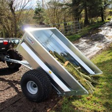 Quad X Mechanical Tipping Trailer