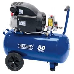 Air Compressor 50L 230V 2.0hp (1.5kW) by Draper