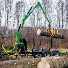 Kellfri 6 Tonne Forestry Trailer with 4.7m Crane