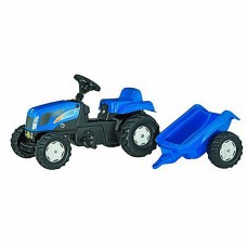 Pedal Tractor And Trailer - New Holland T7550