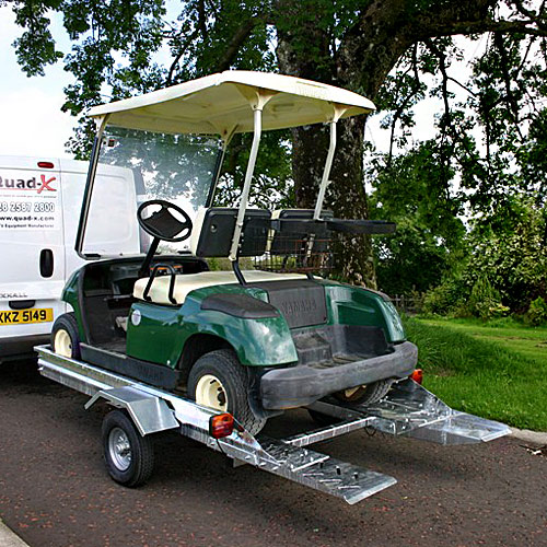 Golf Buggy Trailer By Quad X Road Legal No Ramps Needed