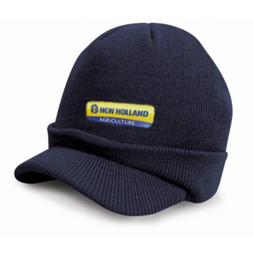 New Holland Knitted Hat w/ Peak