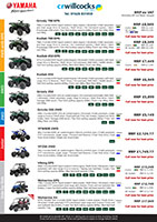 Yamaha Quad Bike & UTV prices